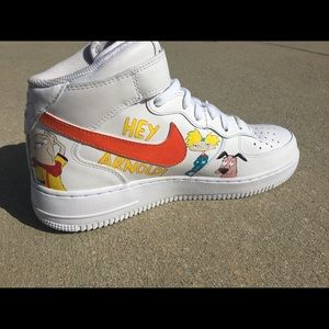 Nike Shoes - 90's cartoon Nike AF1 high tops